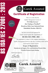 PHPALLETS ISO 27001 Certificate