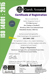 PHPallets ISO 14001 Certificate